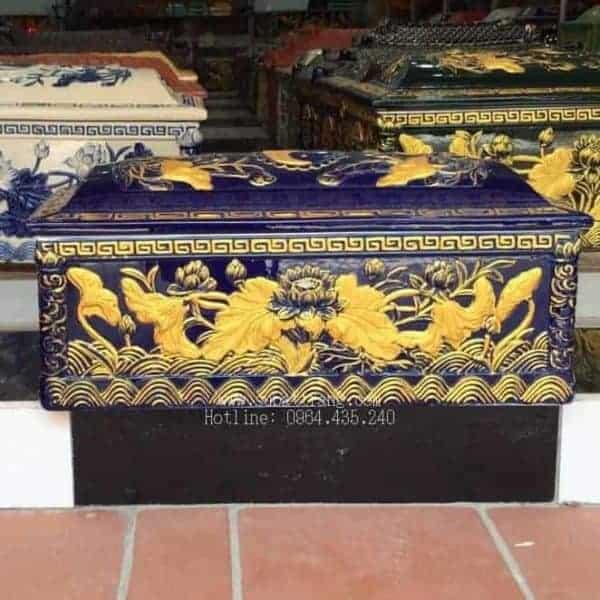 Quách Tiểu Mái Vòm Họa Tiết Sen Nhũ Vàng - 190021