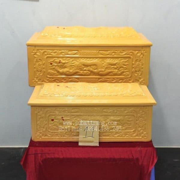 Quách Tiểu Mái Vòm Men Vàng Rồng Nổi - 190011