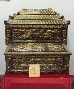 Quách Tiểu Men Nâu Nhũ Vàng Rồng Nổi - 190001