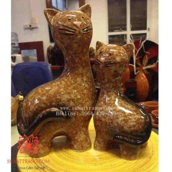Tượng Con Giống Bộ Mèo Đôi - 200029