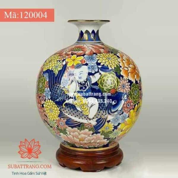 Bình hút lộc cá chép liên hoa màu - 120004