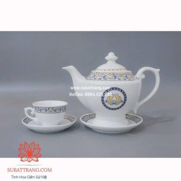 Bộ trà inlogo họa tiết - 130079