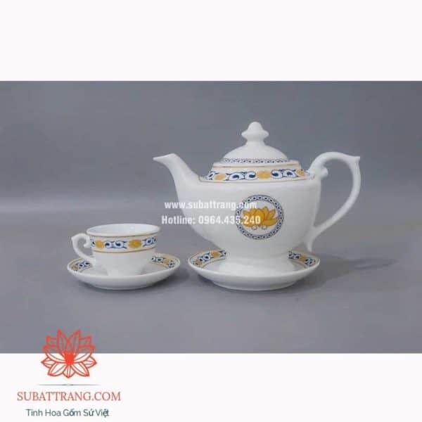 Bộ trà inlogo họa tiết - 130080