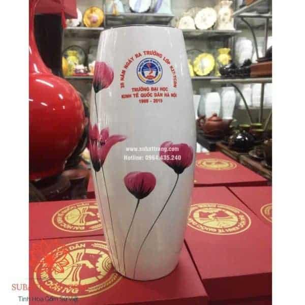 Lọ hoa dáng bom in logo - 130084