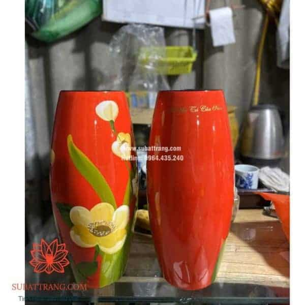 Lọ hoa dáng bom in logo - 130099