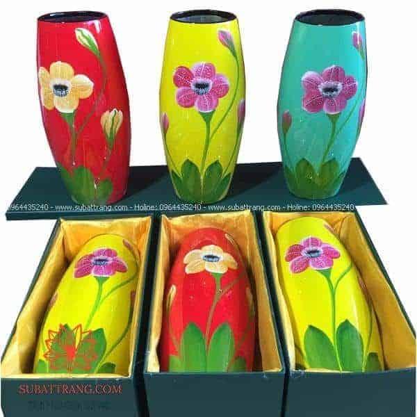 Lọ hoa dáng bom in logo - 130103
