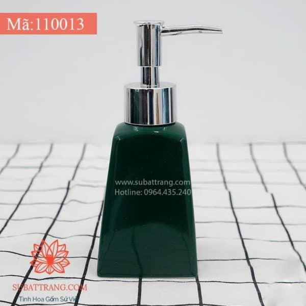 Bình Đựng Dầu Gội Sữa Tắm Dáng Thang Men Xanh Lục - 110013
