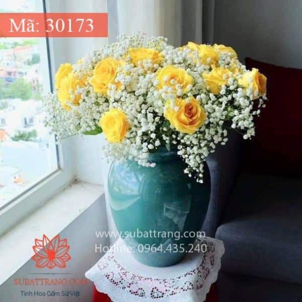 Bình Hoa Chum Xanh S2 Bát Tràng - 30173