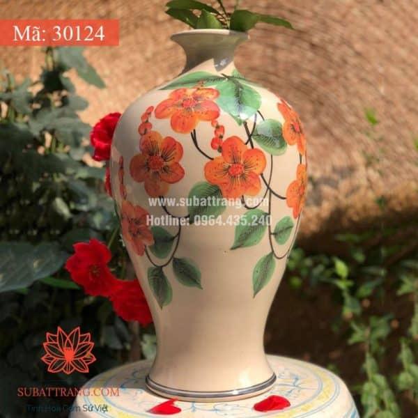 Bình Hoa Dáng Cao Bát Tràng Men Rạn - 30124
