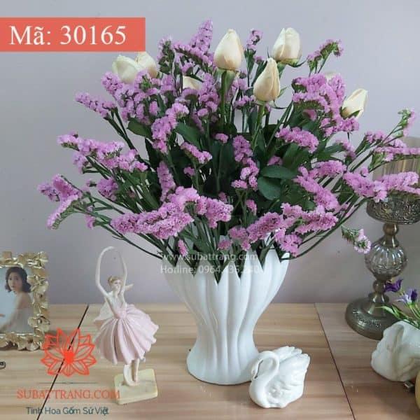Lọ Hoa Bàn Tay Phật Trắng Size Nhỏ - 30165