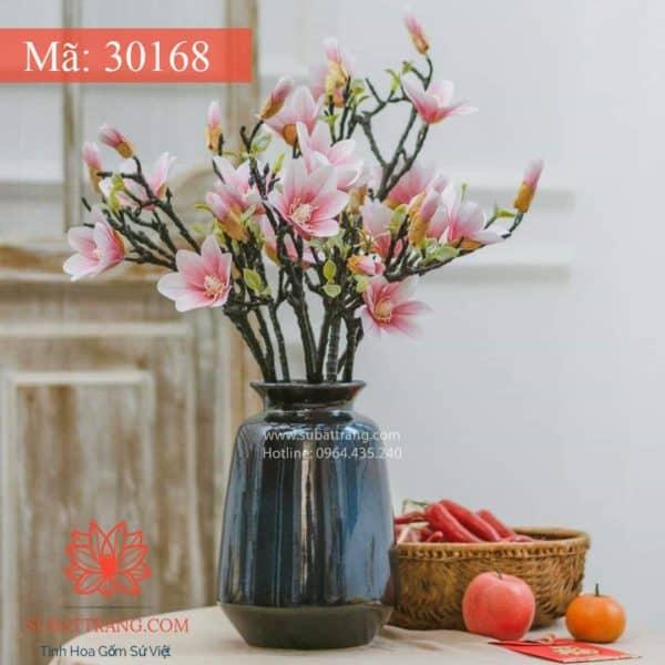 Lọ Hoa Chuông Men Hỏa Biến Bát Tràng - 30168