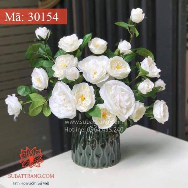 Lọ Hoa Đầm Xanh Bát Tràng - 30154