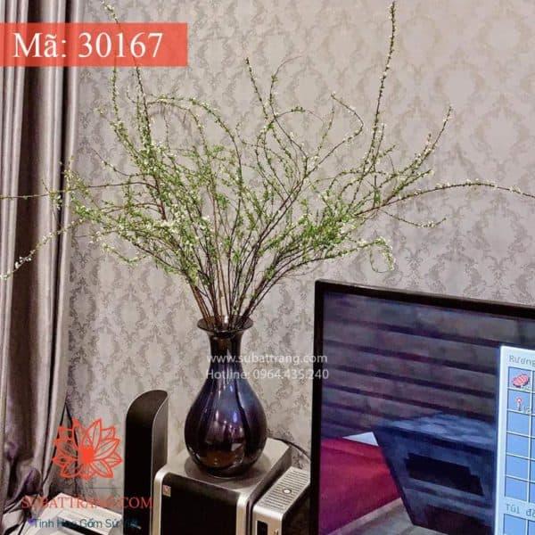 Lọ Hoa Tỳ Bà Men Hỏa Biến Bát Tràng - 30167