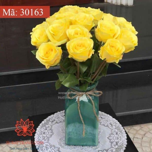 Set 2 Lọ Hoa Vuông Bát Tràng - 30163