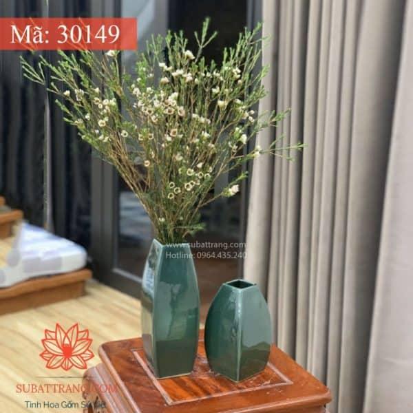 Set 2 Lọ Vuông Men C Bát Tràng - 30149