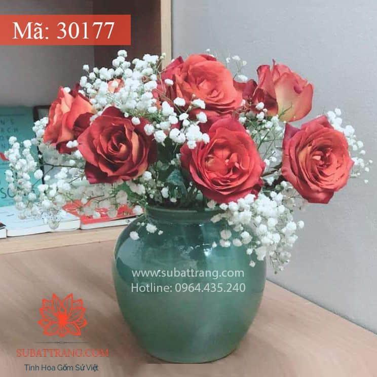Vò Thấp Men Hỏa Biến Bát Tràng - 30177